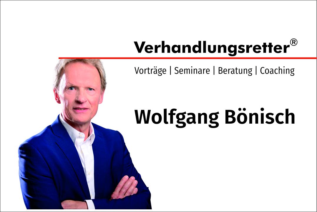 Wolfgang Bönisch - Verhandlungsexperte und Topredner
